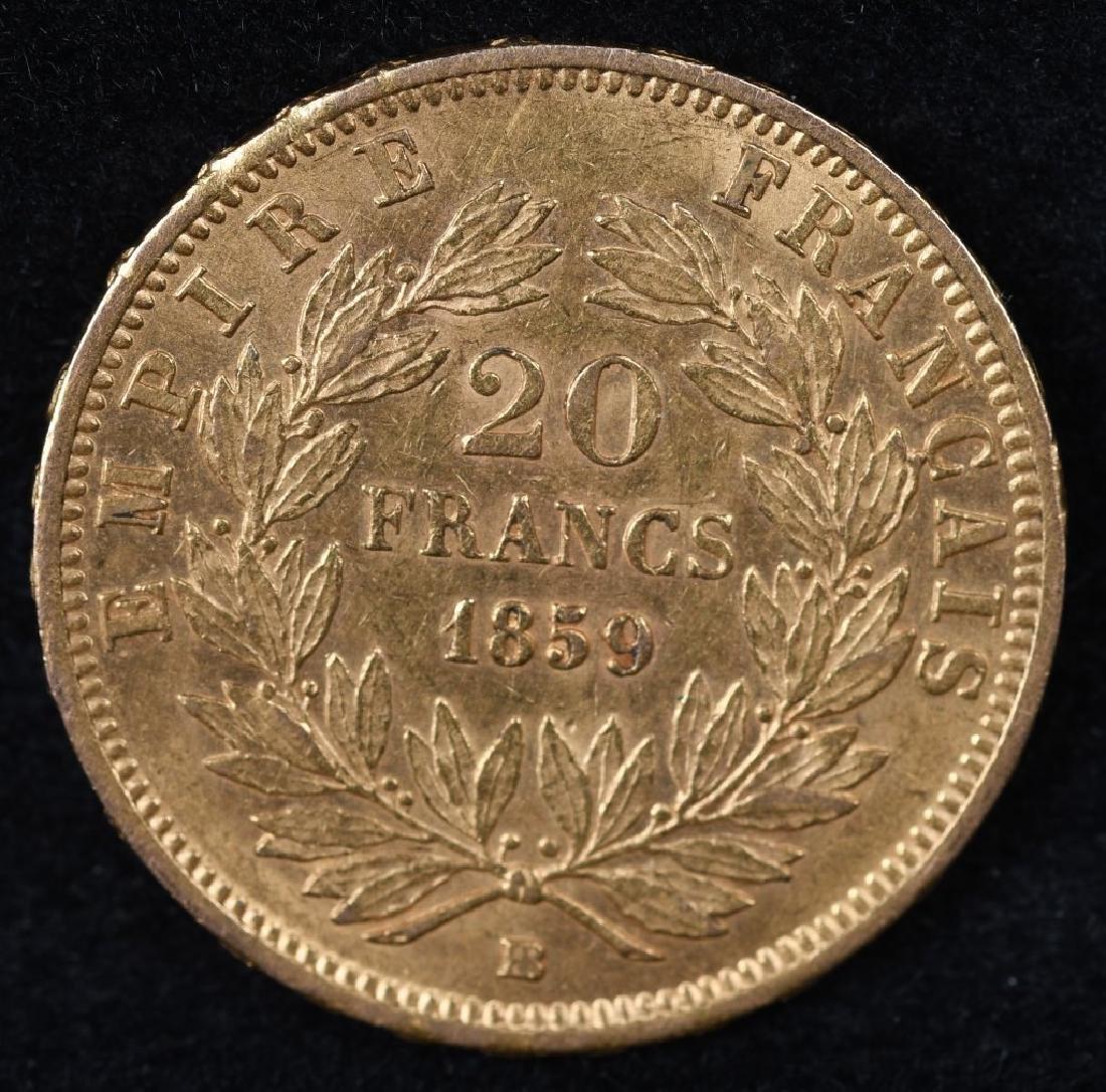 1859 20 FRANC - 2