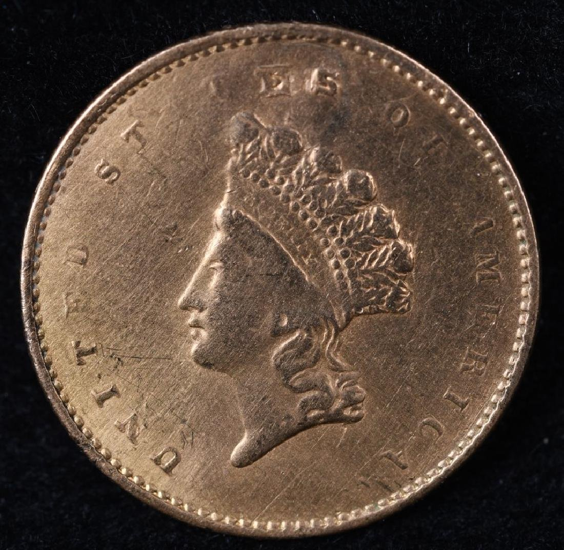 1853 $1 US GOLD COIN