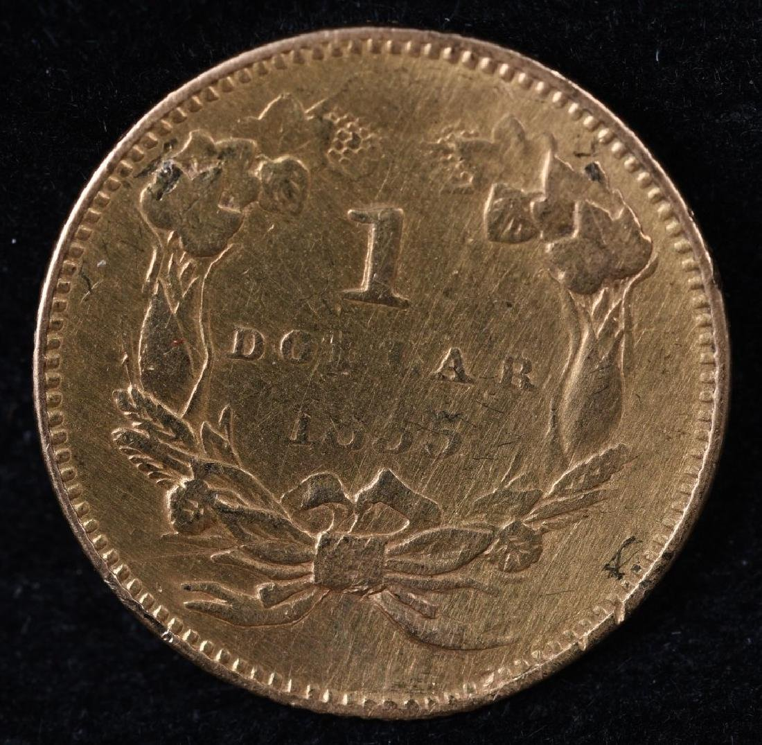 1853 $1 US GOLD COIN - 2