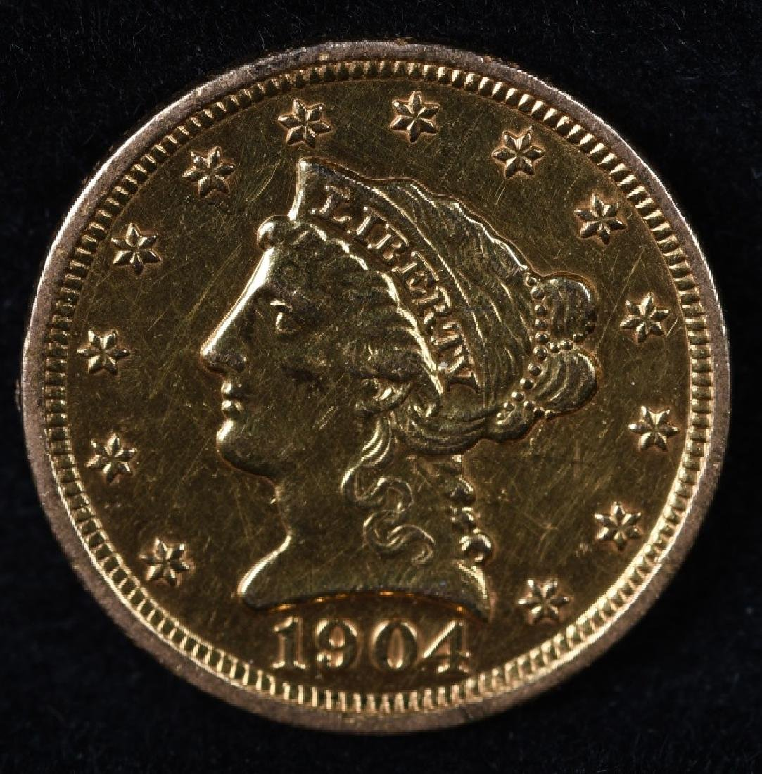 1904 $2 1/2 US GOLD COIN