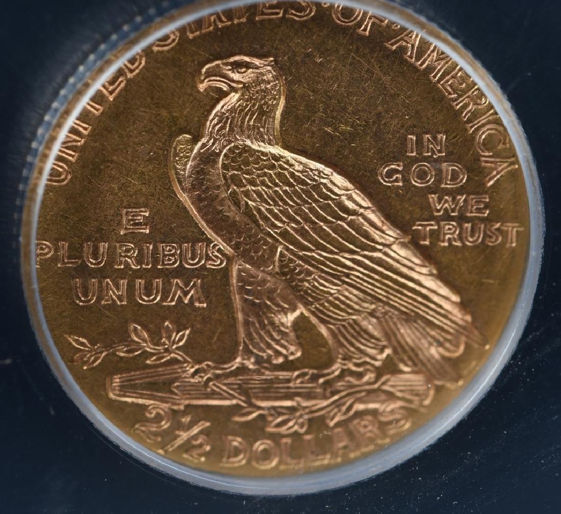 1912 $2 1/2 US GOLD INDIAN SLABBED - 2
