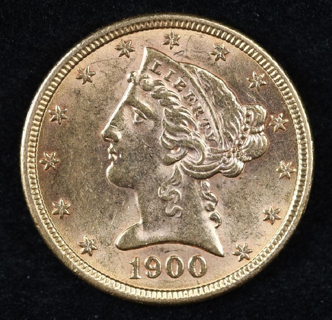 1900 $5 US GOLD LIBERTY