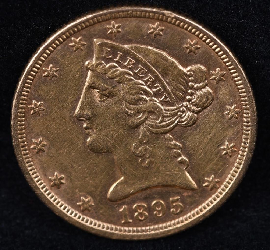 1895 $5 US GOLD LIBERTY