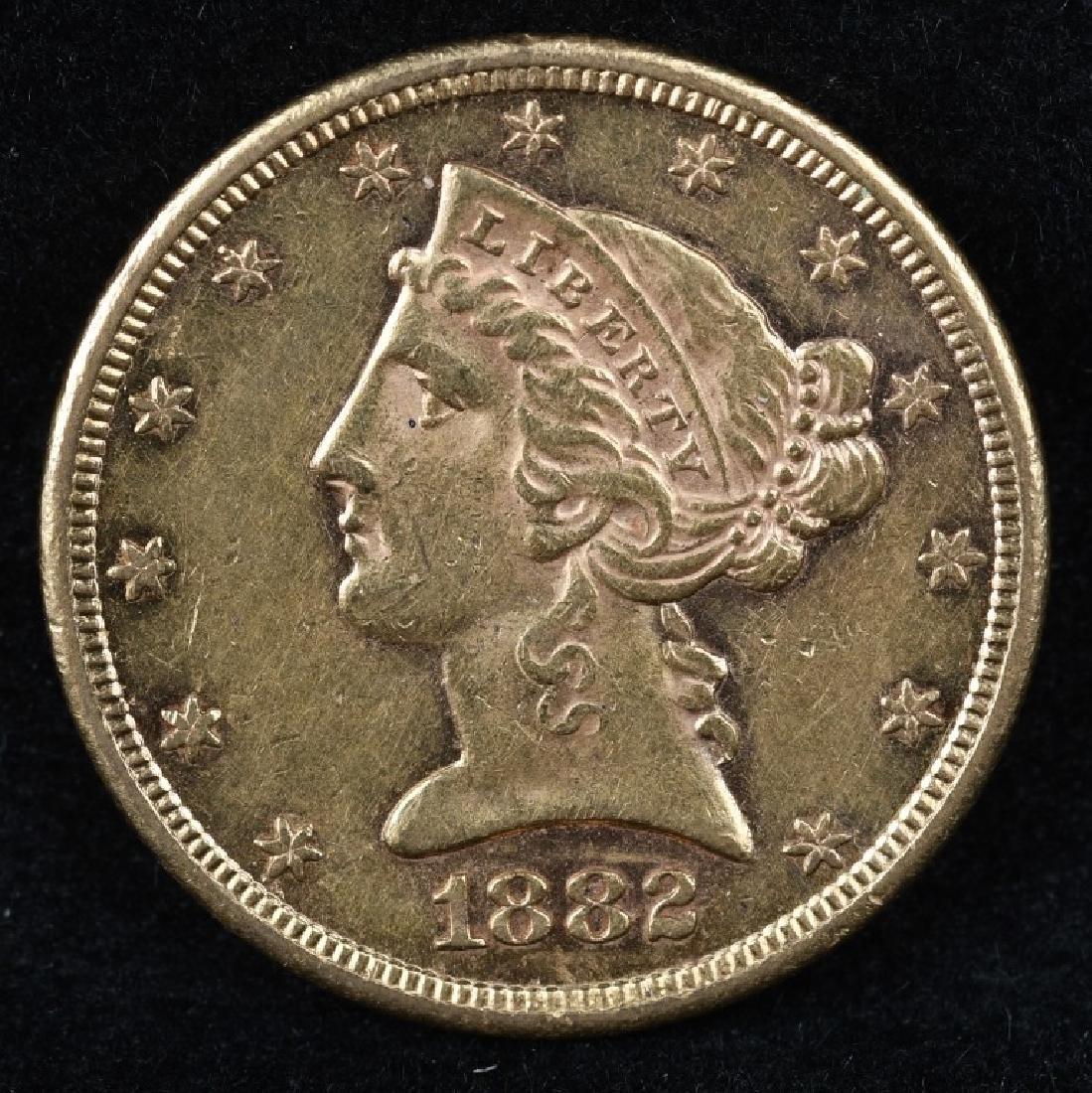 1882S $5 US GOLD LIBERTY