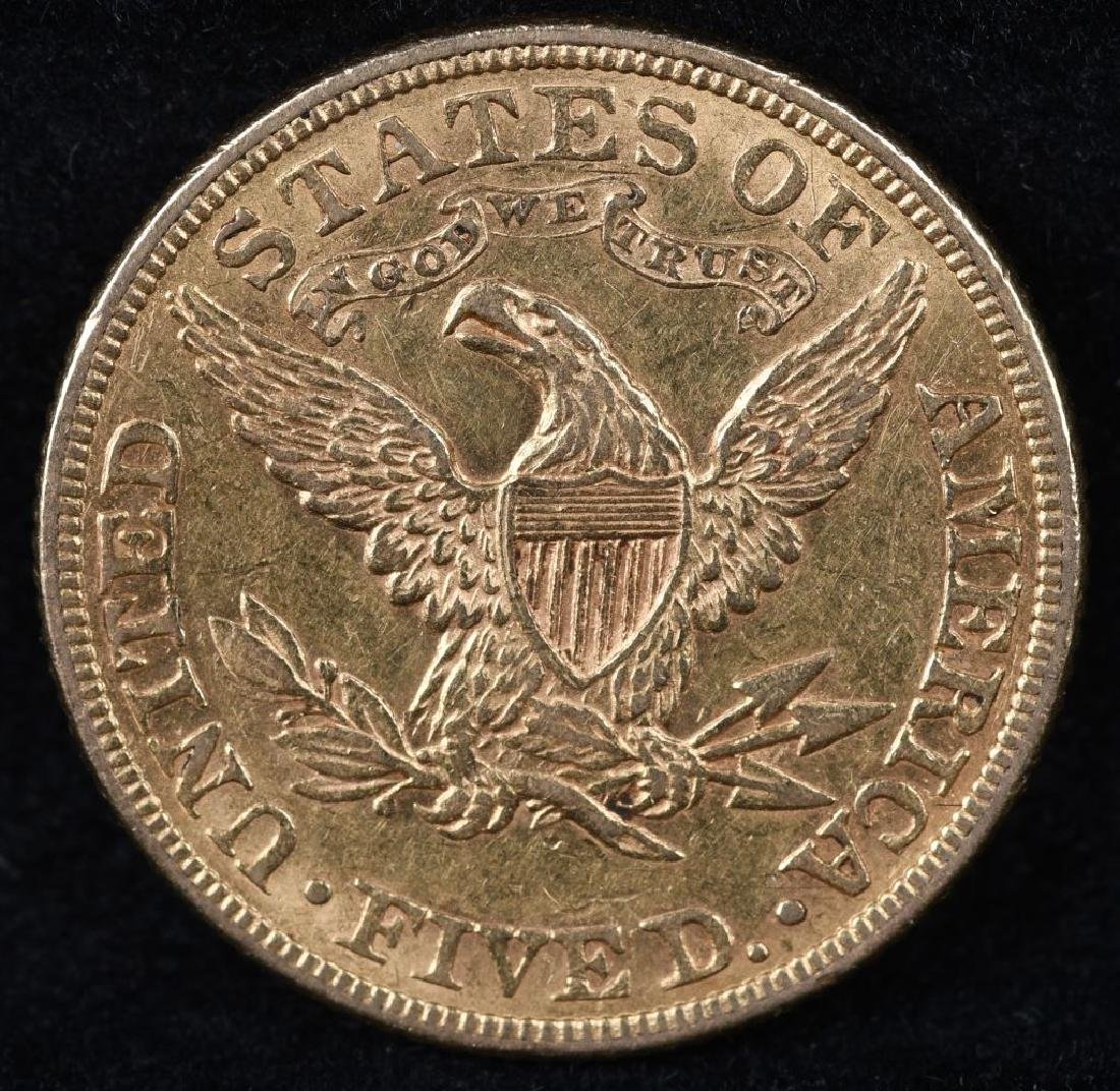 1882 $5 US GOLD LIBERTY - 2