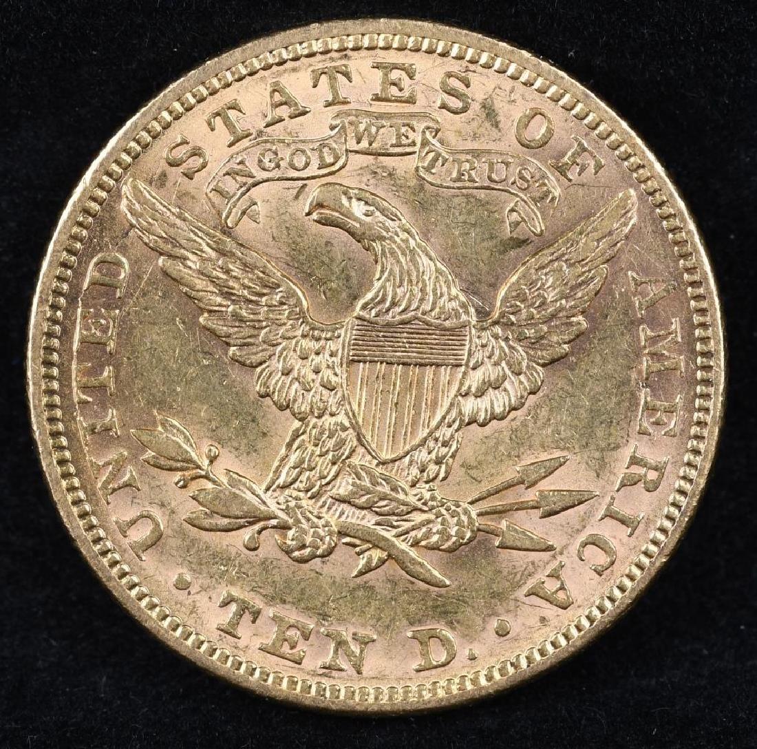 1893 $10 US GOLD LIBERTY - 2