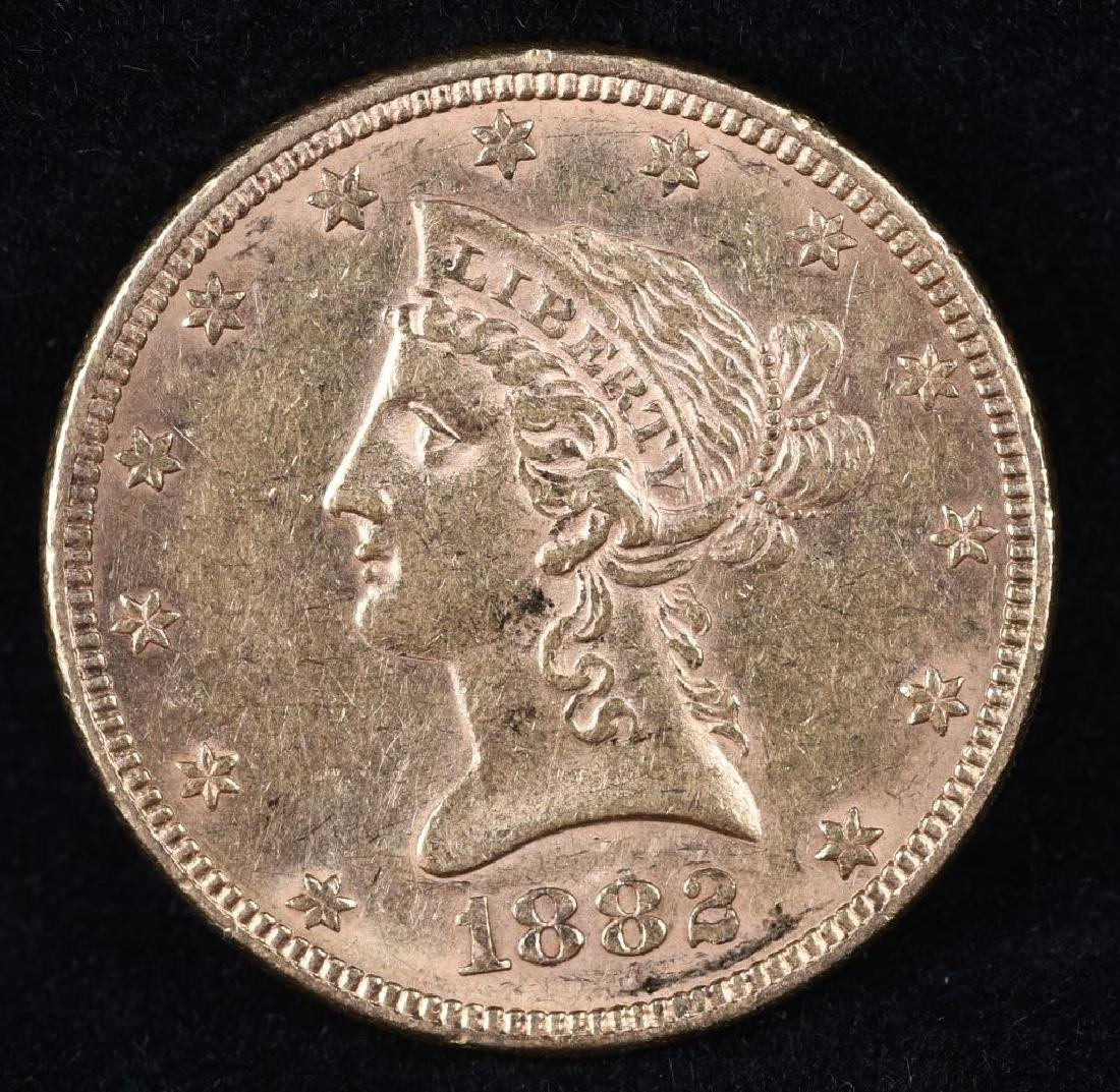 1882 $10 US GOLD LIBERTY