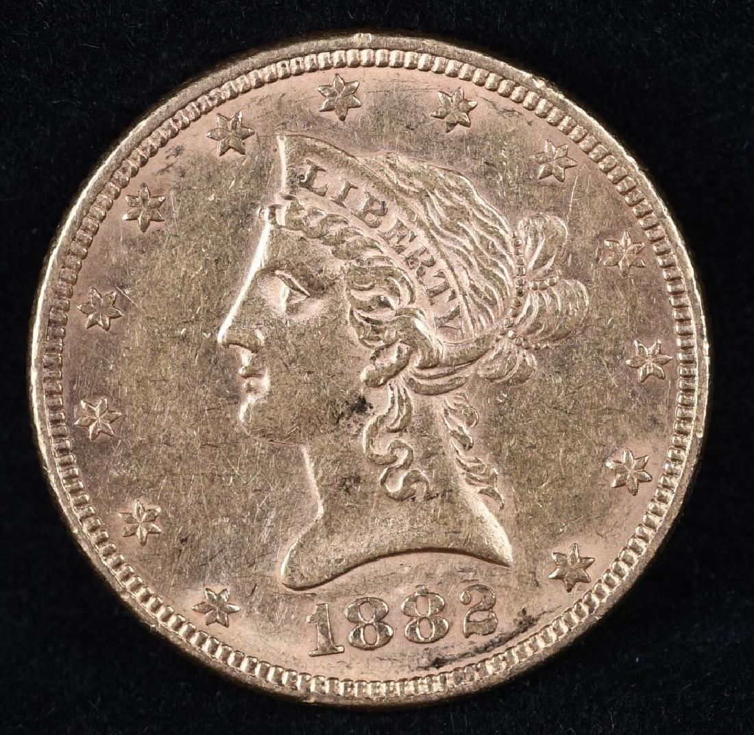 1882 $10 US GOLD LIBERTY