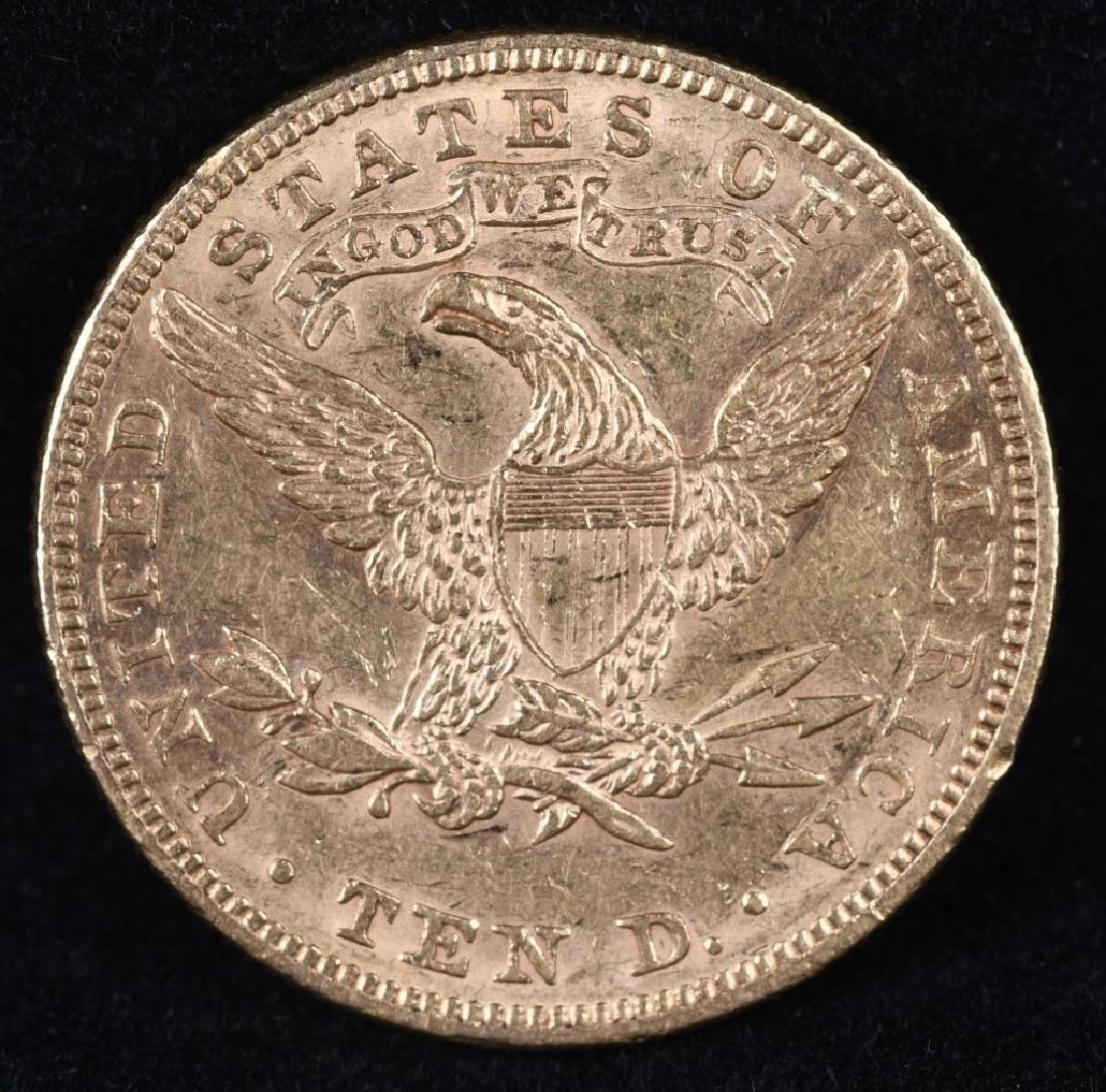 1882 $10 US GOLD LIBERTY - 2