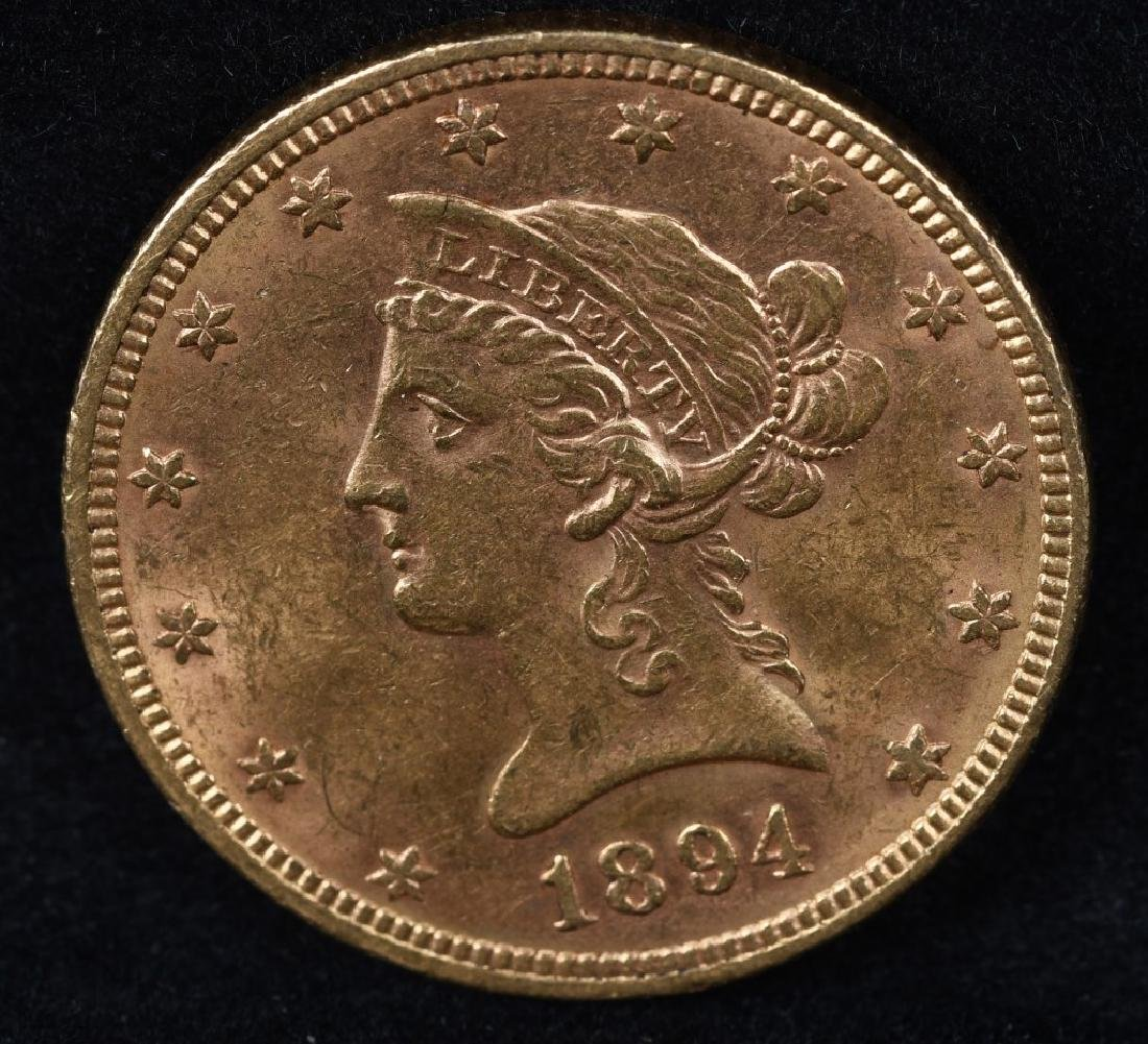 1894 $10 US GOLD LIBERTY