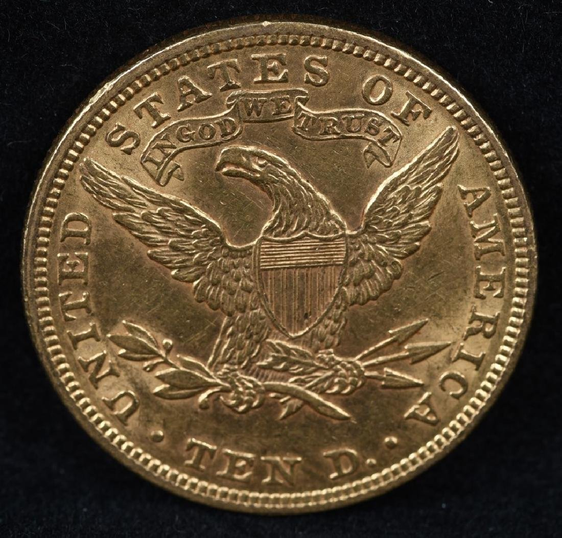 1907 $10 US GOLD LIBERTY - 2