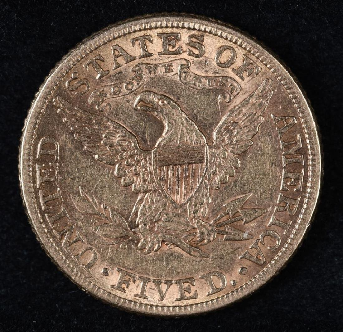 1881 $5 US GOLD LIBERTY - 2