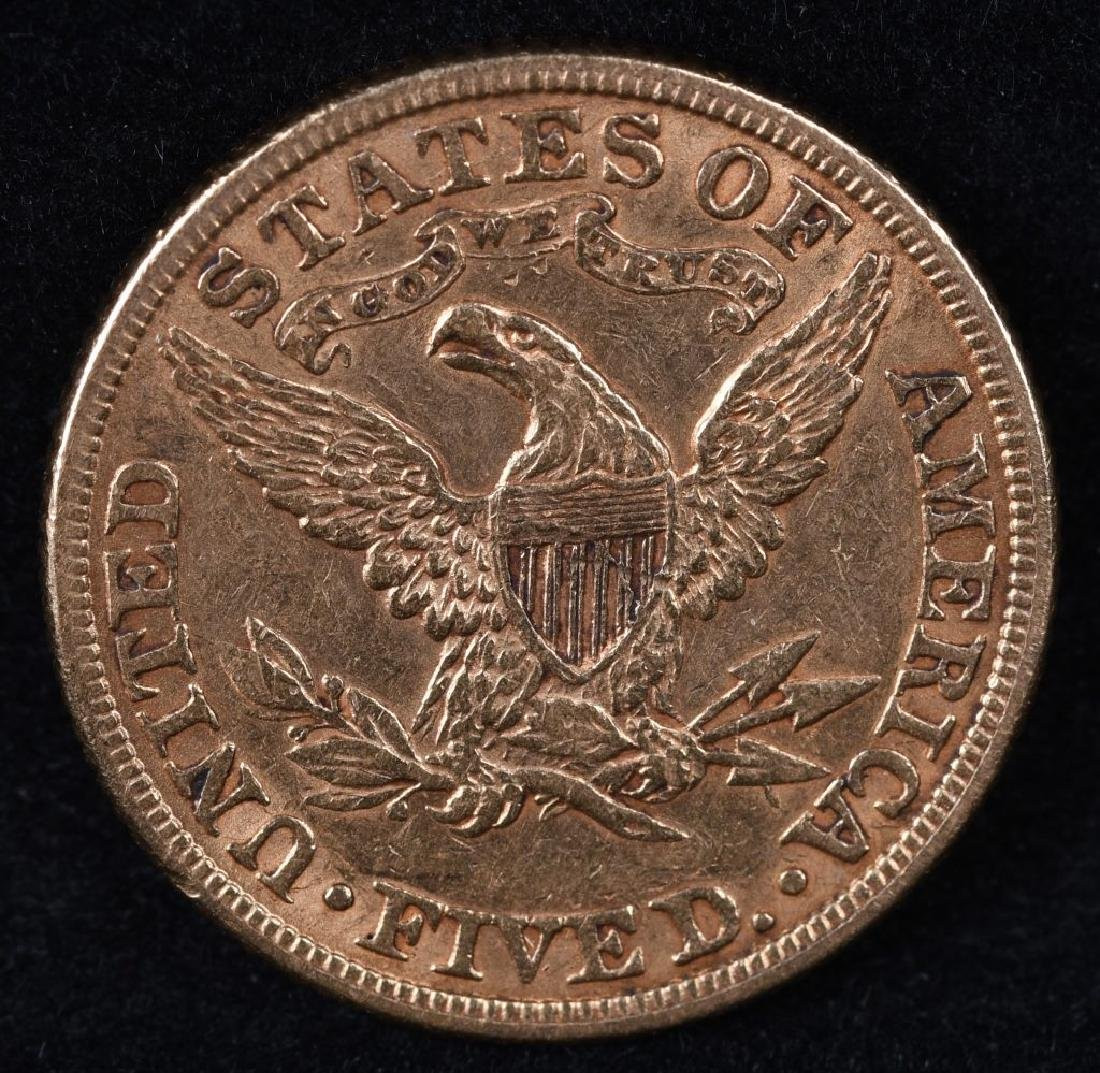 1882 $5 US GOLD LIBERTY - 2