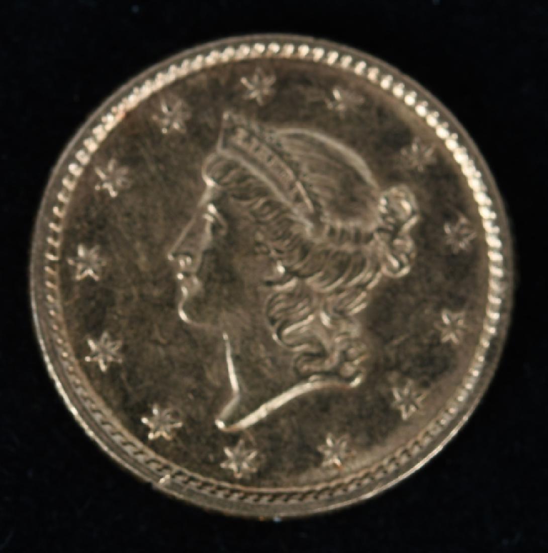 1853 $1 LIBERTY HEAD GOLD