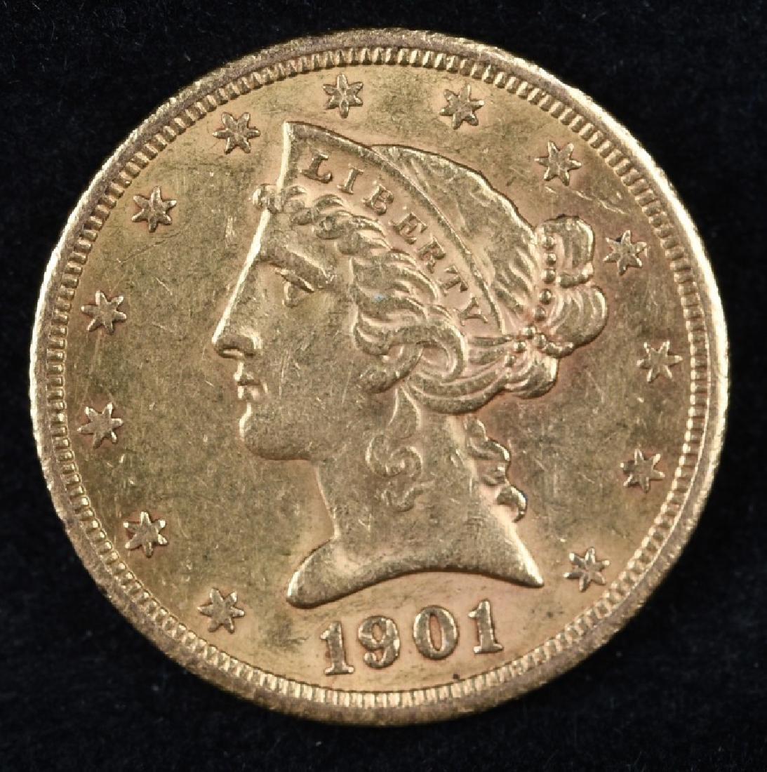 1901S $5 US GOLD LIBERTY