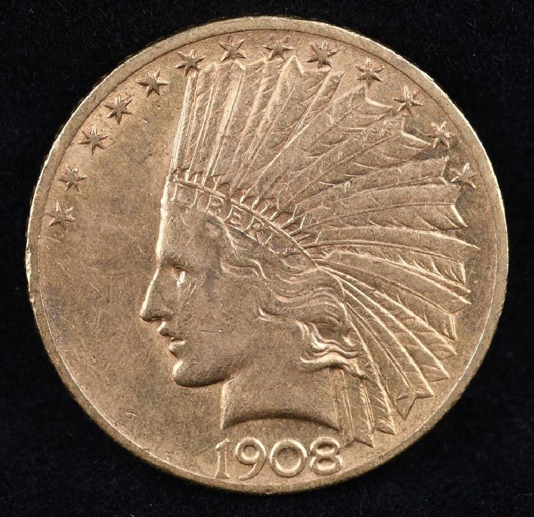 1908 $10 INDIAN HEAD GOLD