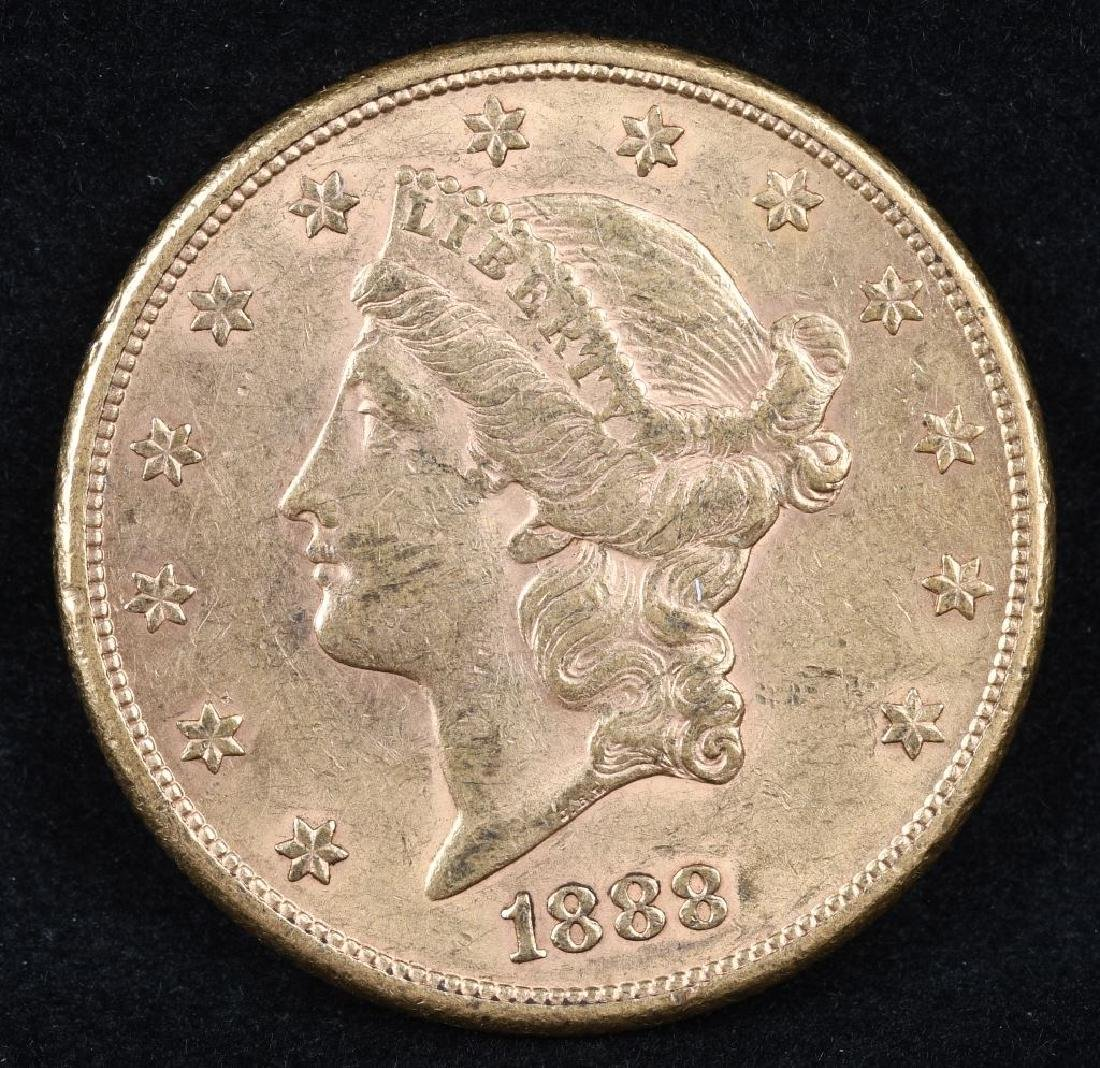 1888S $20 LIBERTY GOLD DOUBLE EAGLE