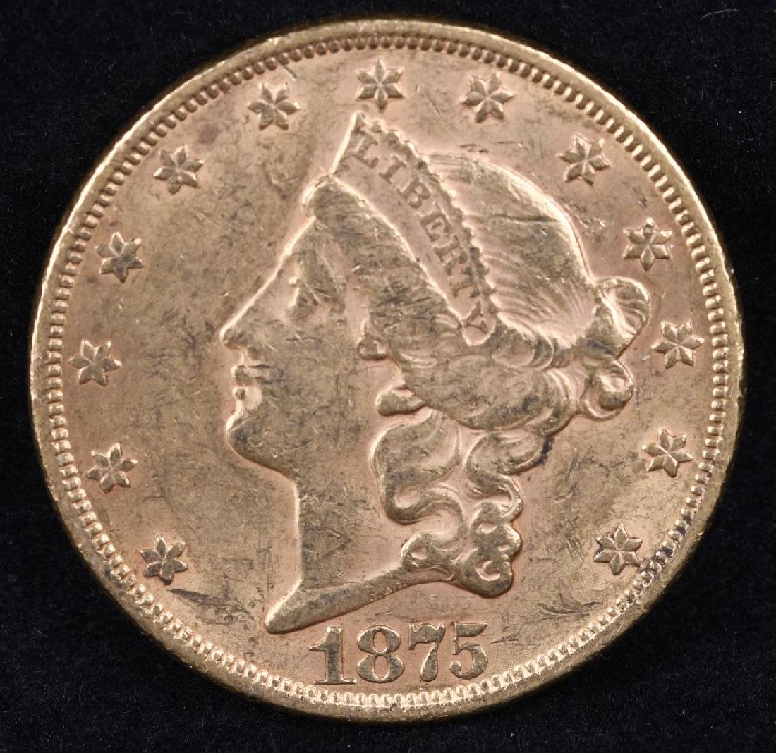 1875 $20 LIBERTY GOLD DOUBLE EAGLE