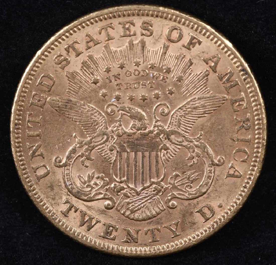 1875 $20 LIBERTY GOLD DOUBLE EAGLE - 2