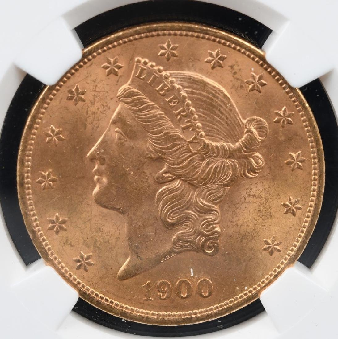 1900 NGC MS62 $20 LIBERTY GOLD DOUBLE EAGLE