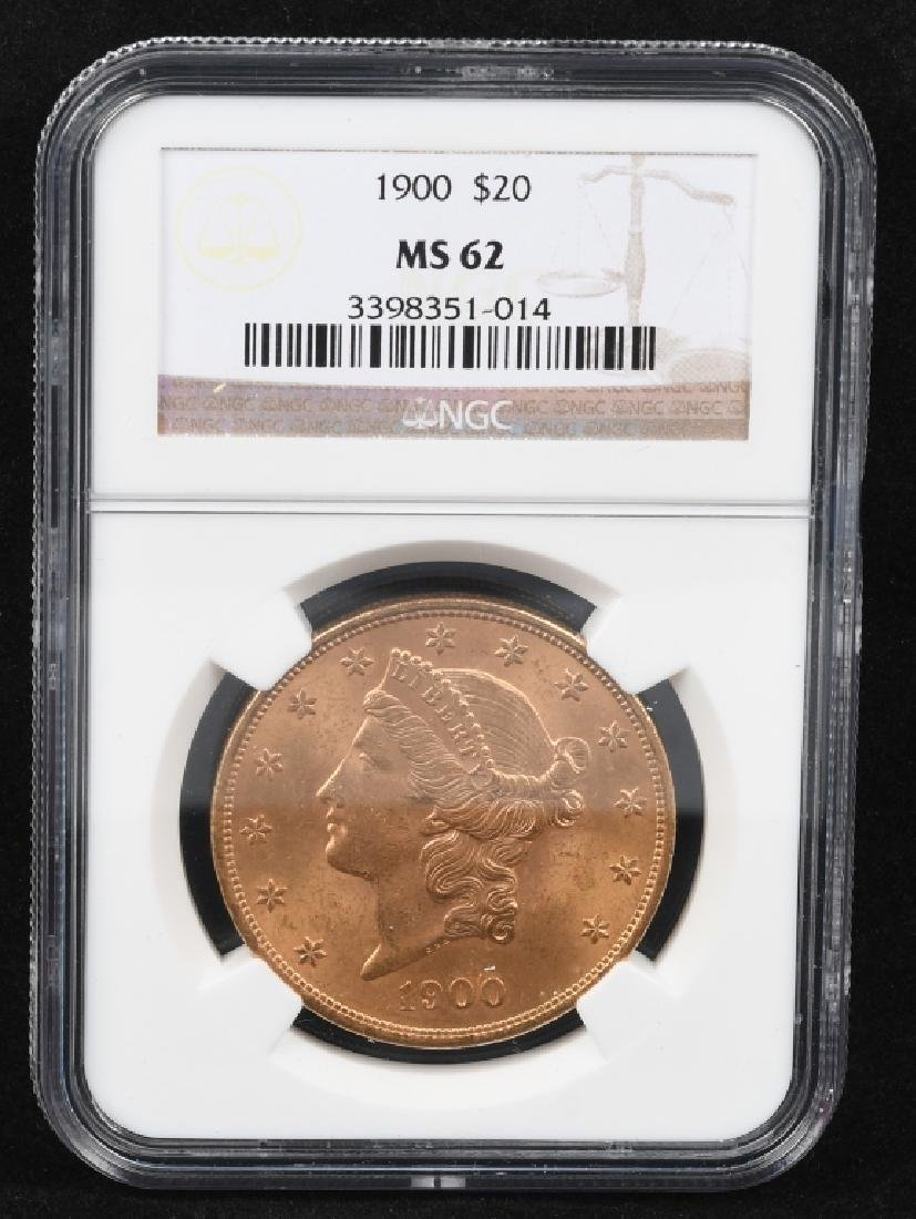 1900 NGC MS62 $20 LIBERTY GOLD DOUBLE EAGLE - 3