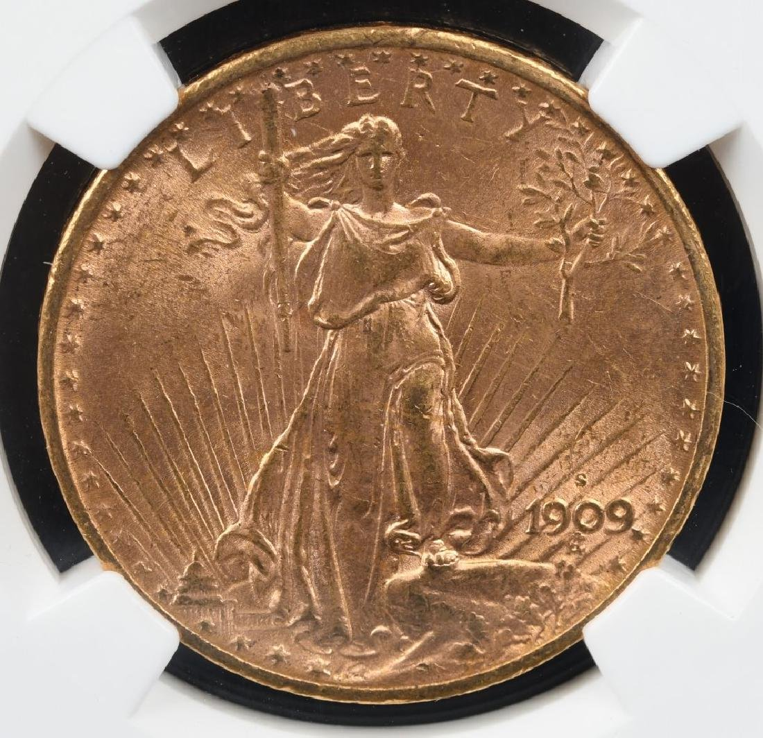 1909S NGC MS62 $20 LIBERTY GOLD DOUBLE EAGLE