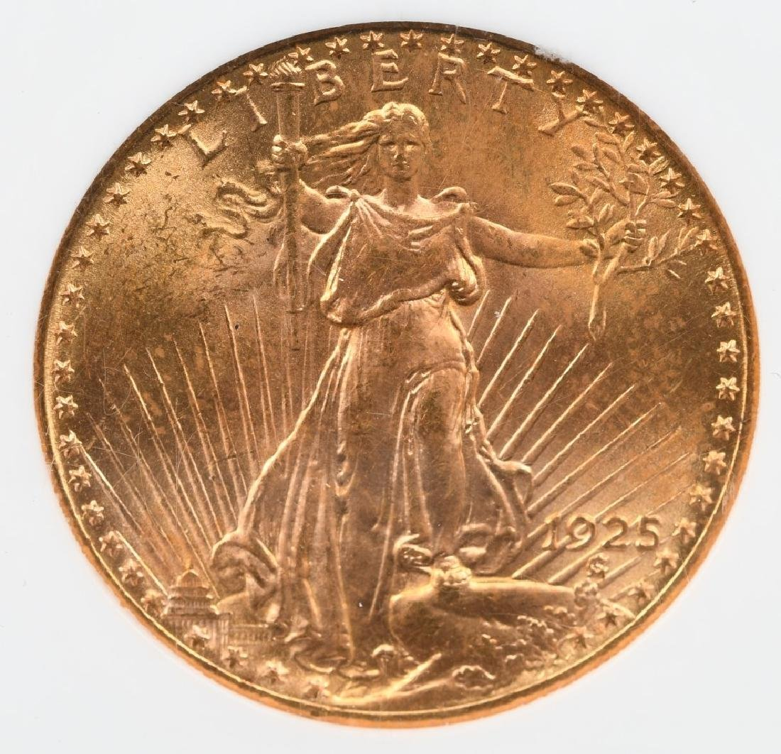 1925 $20 SAINT GAUDENS GOLD COIN