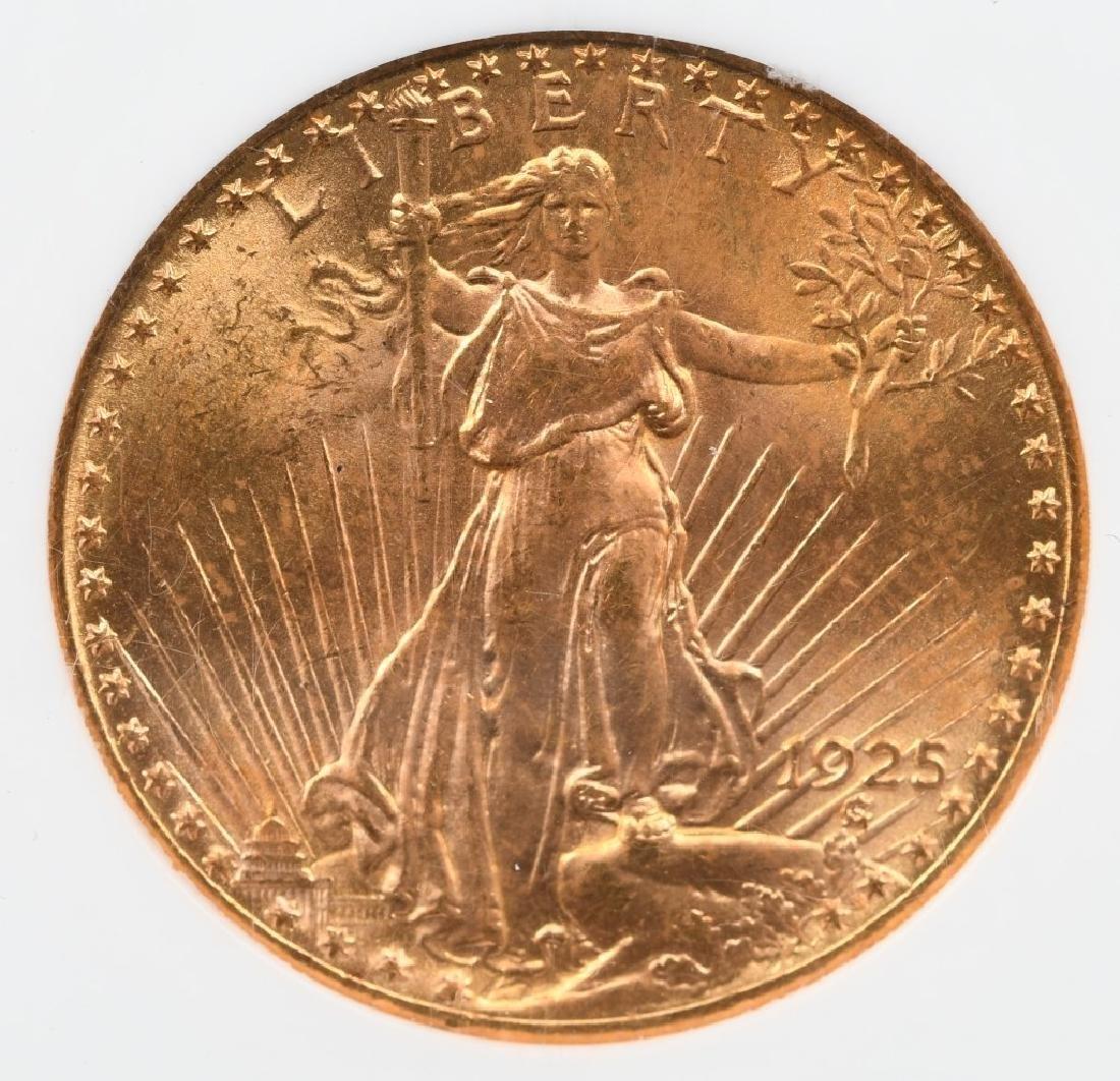 1925 $20 SAINT GAUDENS GOLD COIN