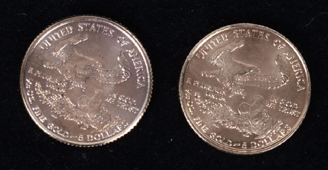 1998 & 2000 1/10 OZT AMERICAN GOLD EAGLES - 2