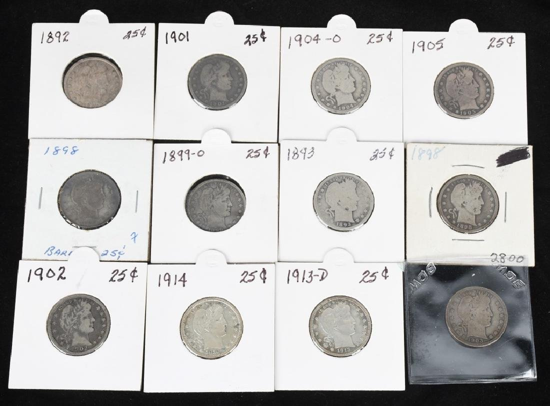 12 US BARBER QUARTERS 1892- 1913