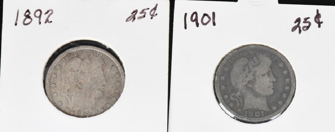 12 US BARBER QUARTERS 1892- 1913 - 2