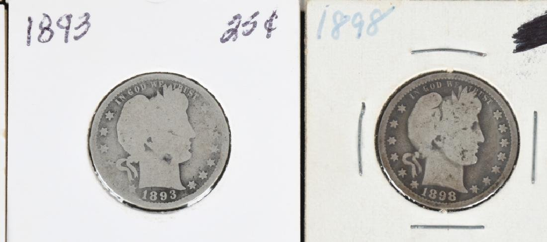 12 US BARBER QUARTERS 1892- 1913 - 4