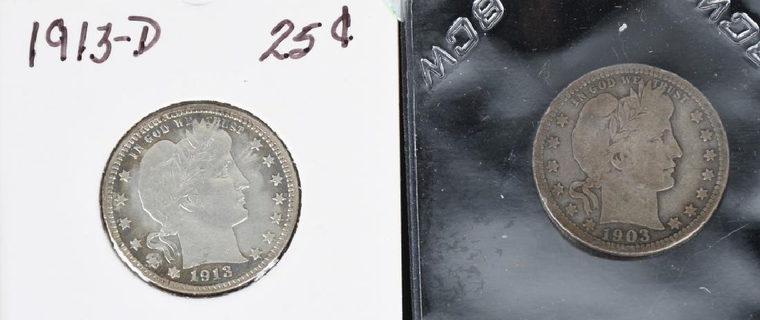 12 US BARBER QUARTERS 1892- 1913 - 5