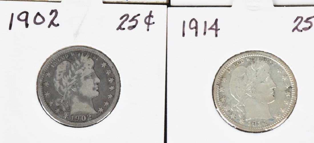 12 US BARBER QUARTERS 1892- 1913 - 6