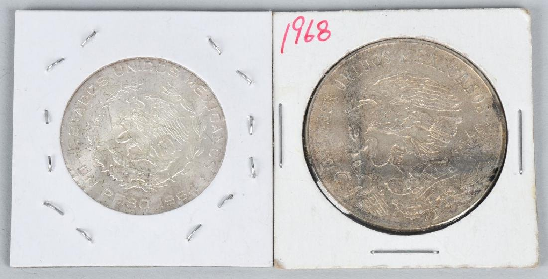 5-MEXICAN SILVER COINS 8 REALES & MORE - 5