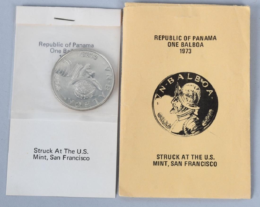 4-REPUBLIC of PANAMA SILVER, 20 BALBOAS & MORE - 3