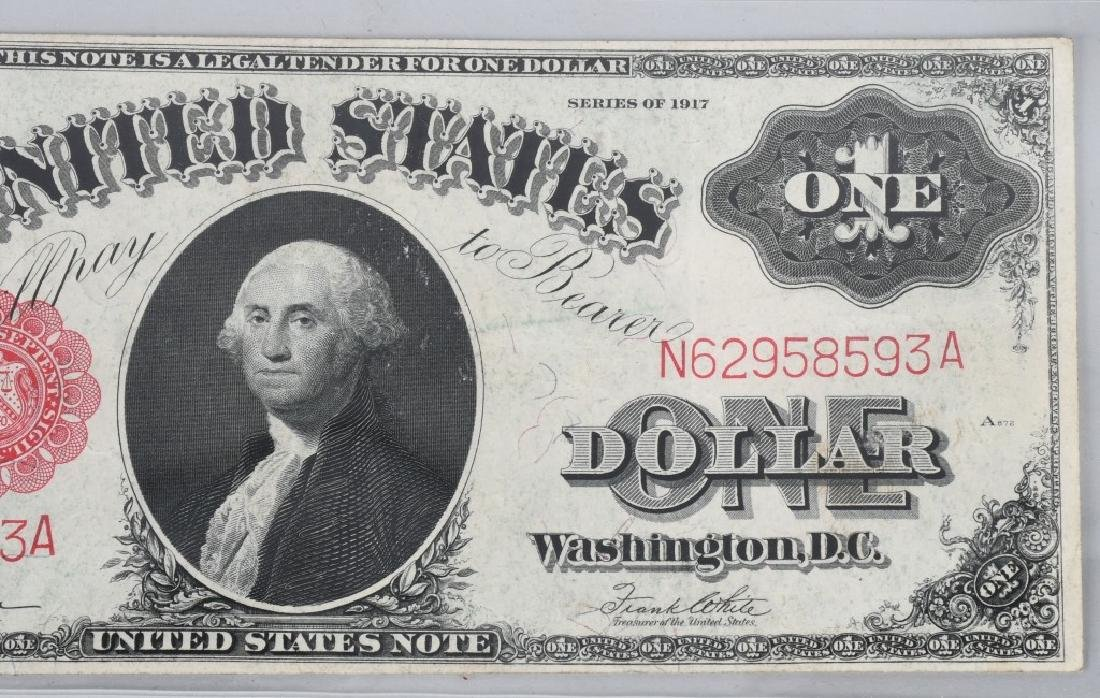 SERIES 1917 UNITED STATES LARGE $1.00 NOTE - 4