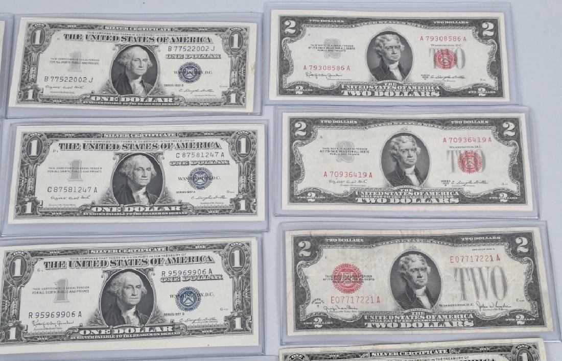 SILVER CERTIFICATES, RED SEALS, & MORE, CURRENCY - 3