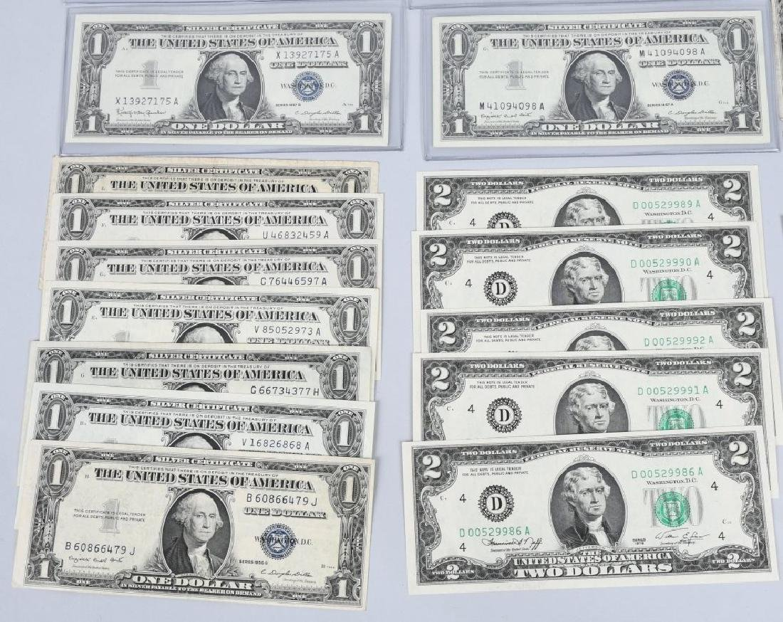 SILVER CERTIFICATES, RED SEALS, & MORE, CURRENCY - 5
