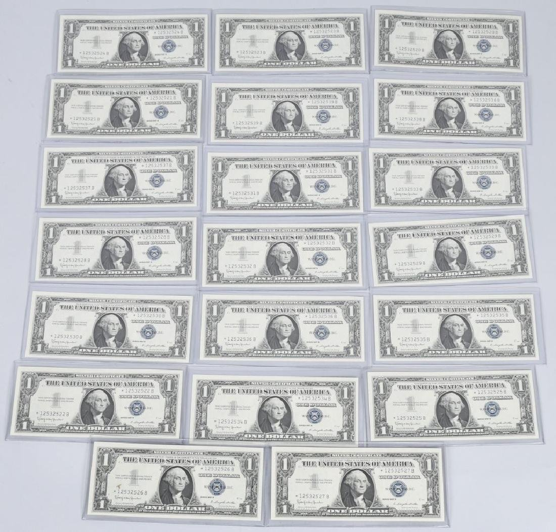 1957B SILVER CERTIFICATE STAR NOTES 20-CONSEC #s