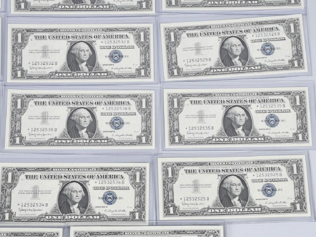 1957B SILVER CERTIFICATE STAR NOTES 20-CONSEC #s - 4
