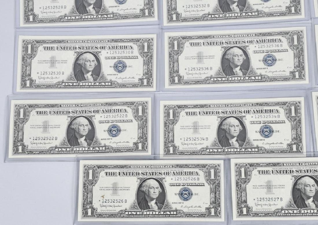1957B SILVER CERTIFICATE STAR NOTES 20-CONSEC #s - 5