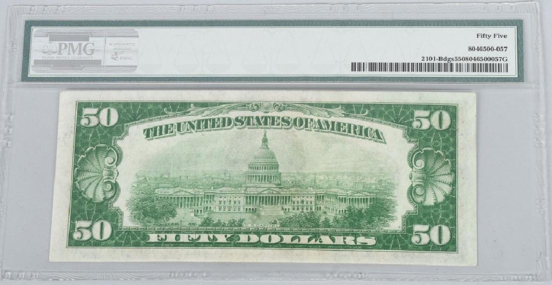 2-1928A $50.00 NOTES, CONSEC. SN, PMG -55 - 3