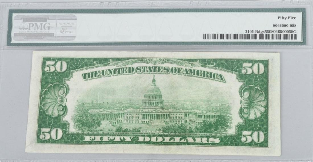2-1928A $50.00 NOTES, CONSEC. SN, PMG -55 - 5