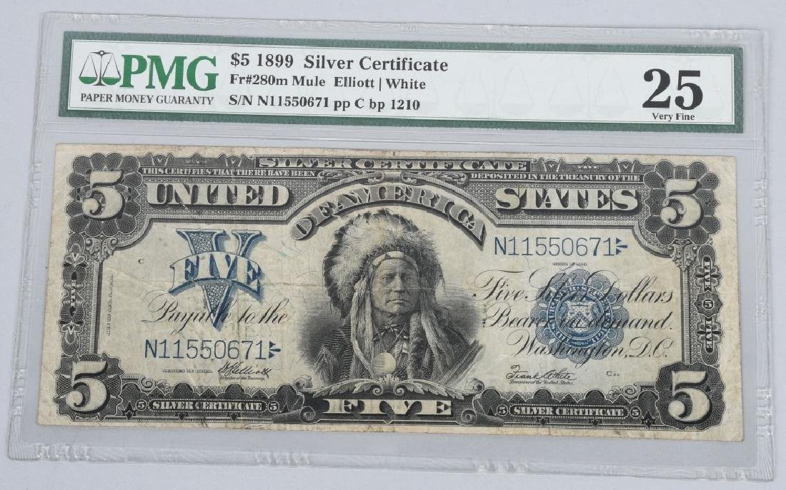 1899 SILVER CERTIFICATE $5.00 LARGE NOTE