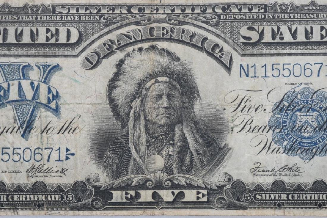 1899 SILVER CERTIFICATE $5.00 LARGE NOTE - 3