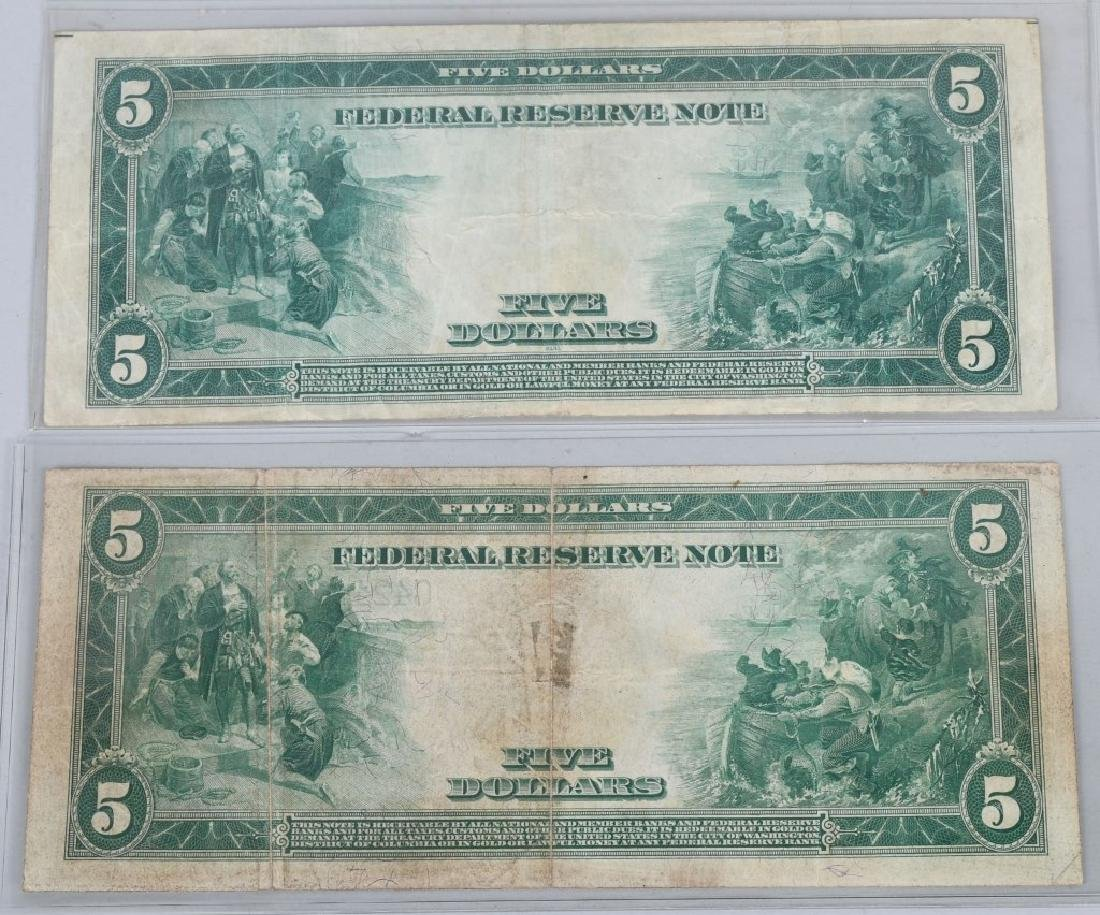 3-SERIES 1914 LARGE NOTES, 2 - $5.00 & 1- $20.00 - 5