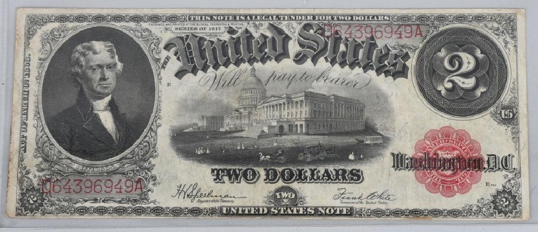 2-SERIES 1917 LARGE NOTES, $1.00 & $2.00 - 4