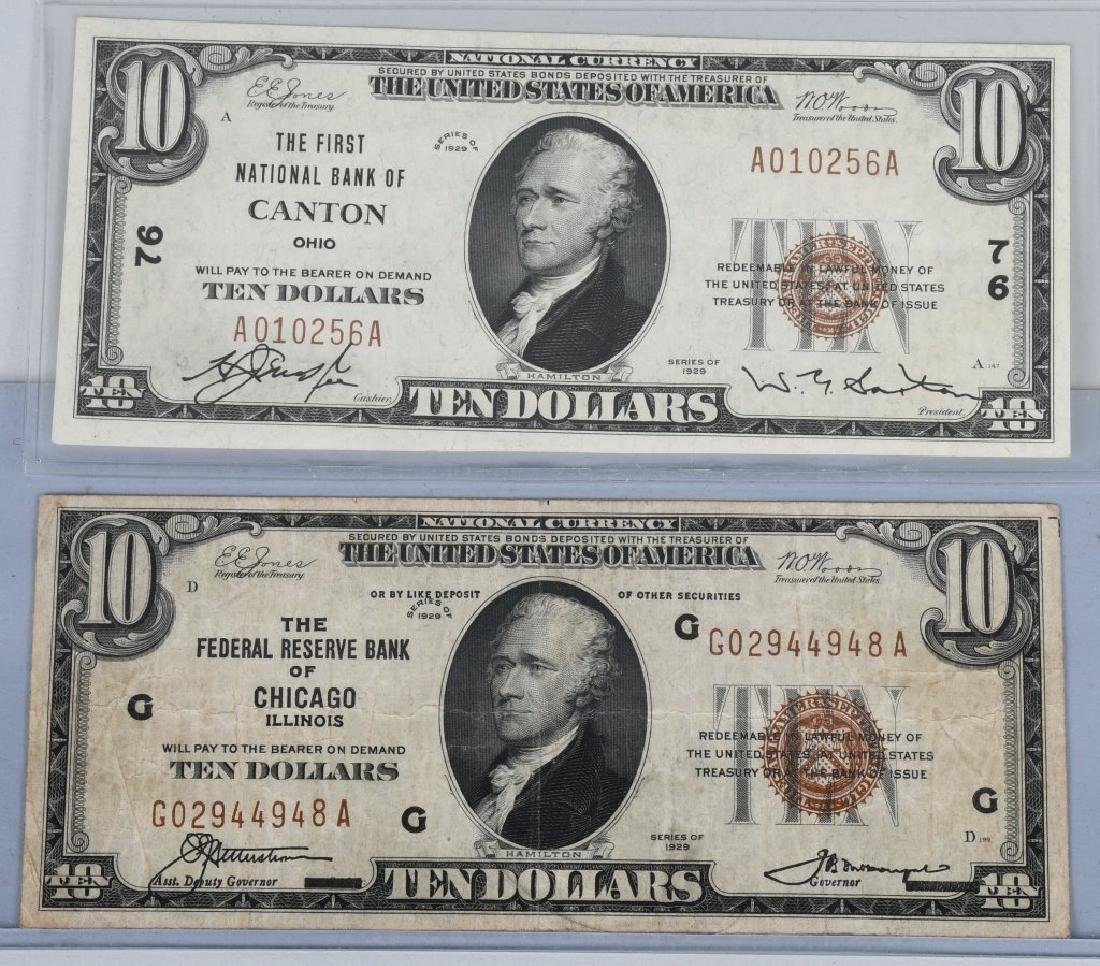 2-SERIES 1929 $10.00 NOTES, CHICAGO & CANTON, O