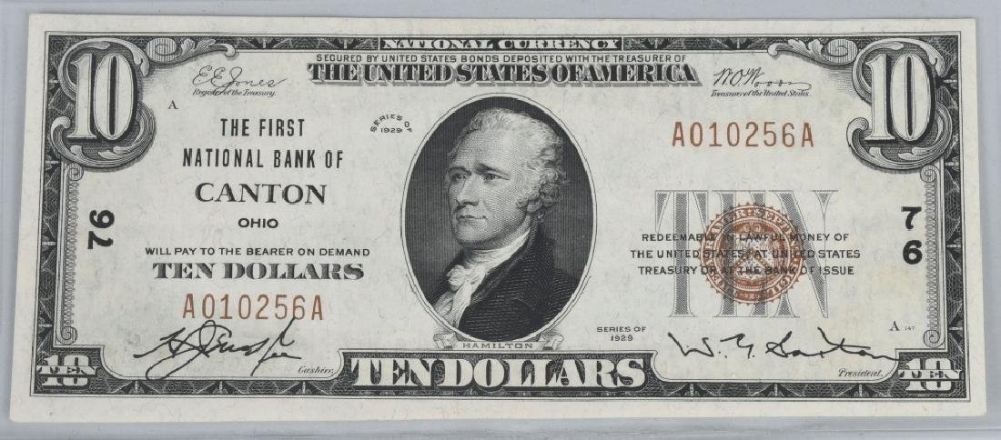 2-SERIES 1929 $10.00 NOTES, CHICAGO & CANTON, O - 2